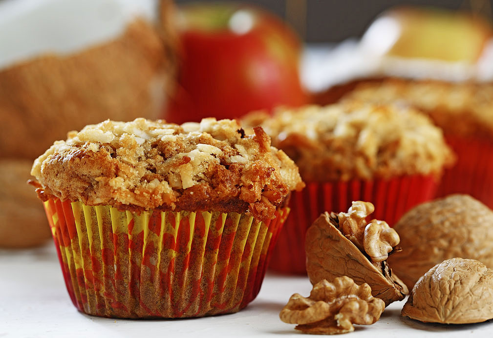 Apple Coconut Muffins recipe made with canola oil