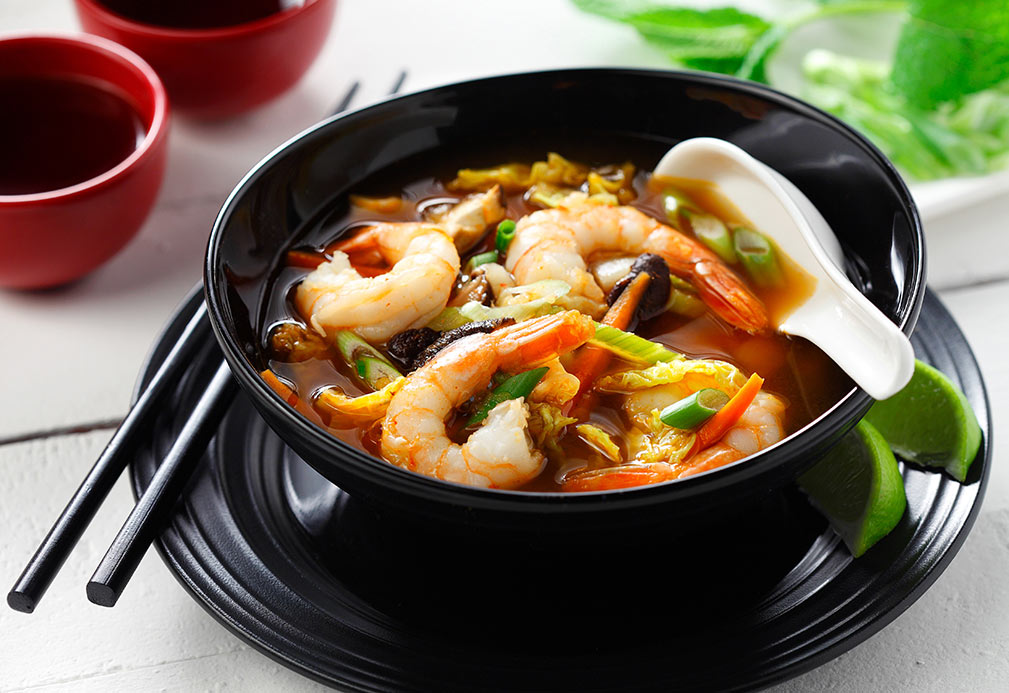 Asian Shrimp Soup recipe made with canola oil by Julie DesGroseilliers