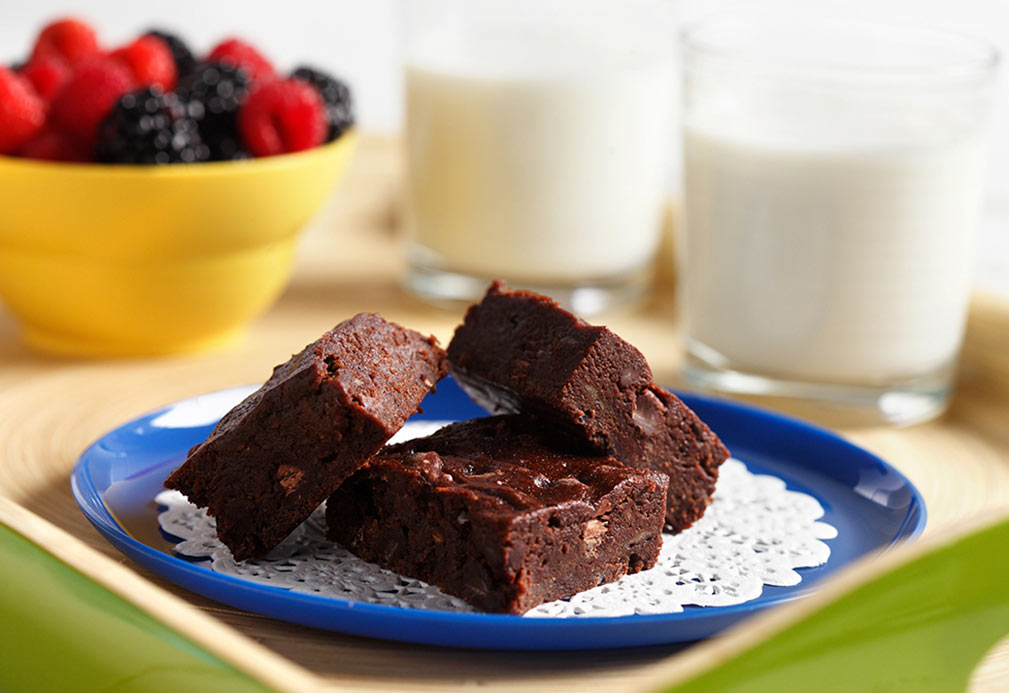 Banana Chocolate Chip Brownies recipe made with canola oil by George Geary