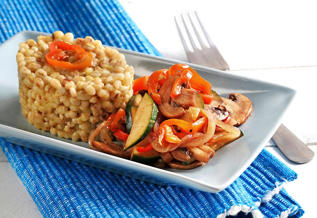 Barley With Caramelized Vegetables recipe made with canola oil