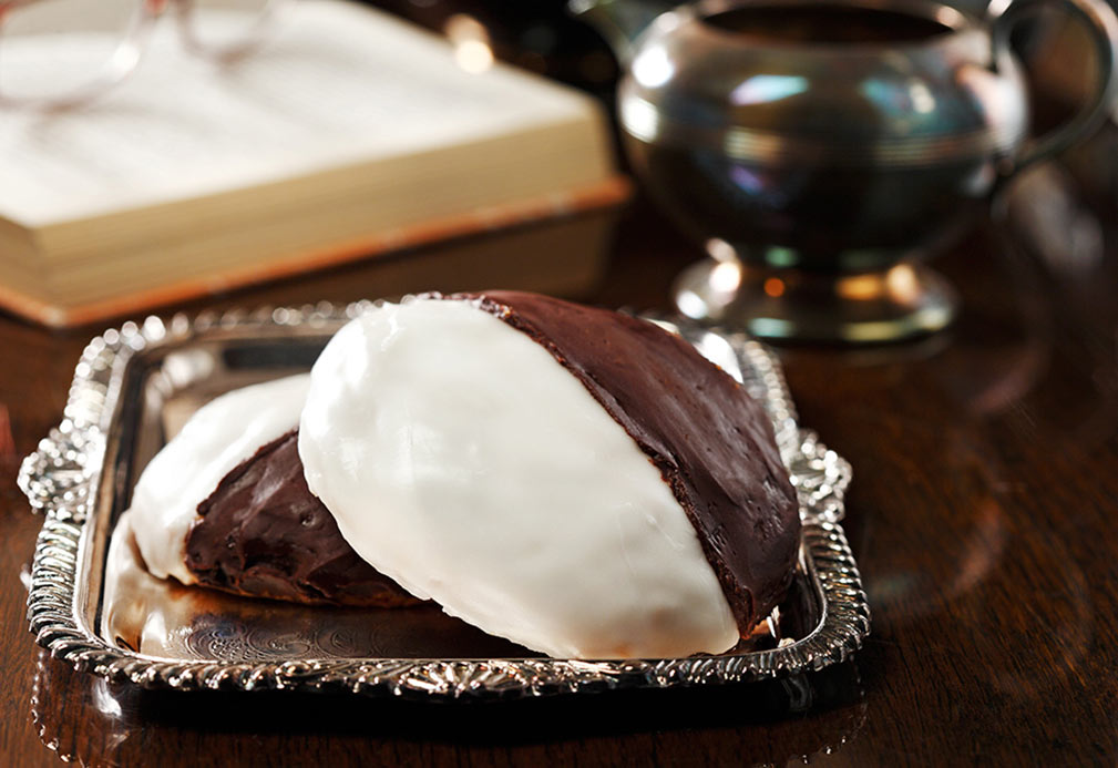 Black and White Cookies recipe made with canola oil by Ellie Krieger