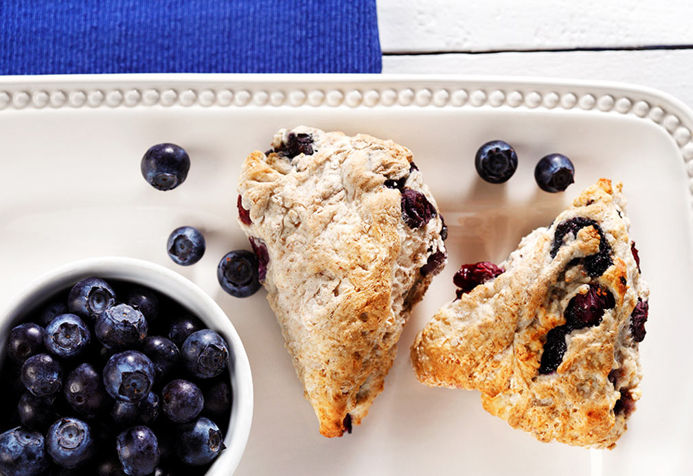 Blueberry Bannock recipe made with canola oil by Julie DesGroseilliers