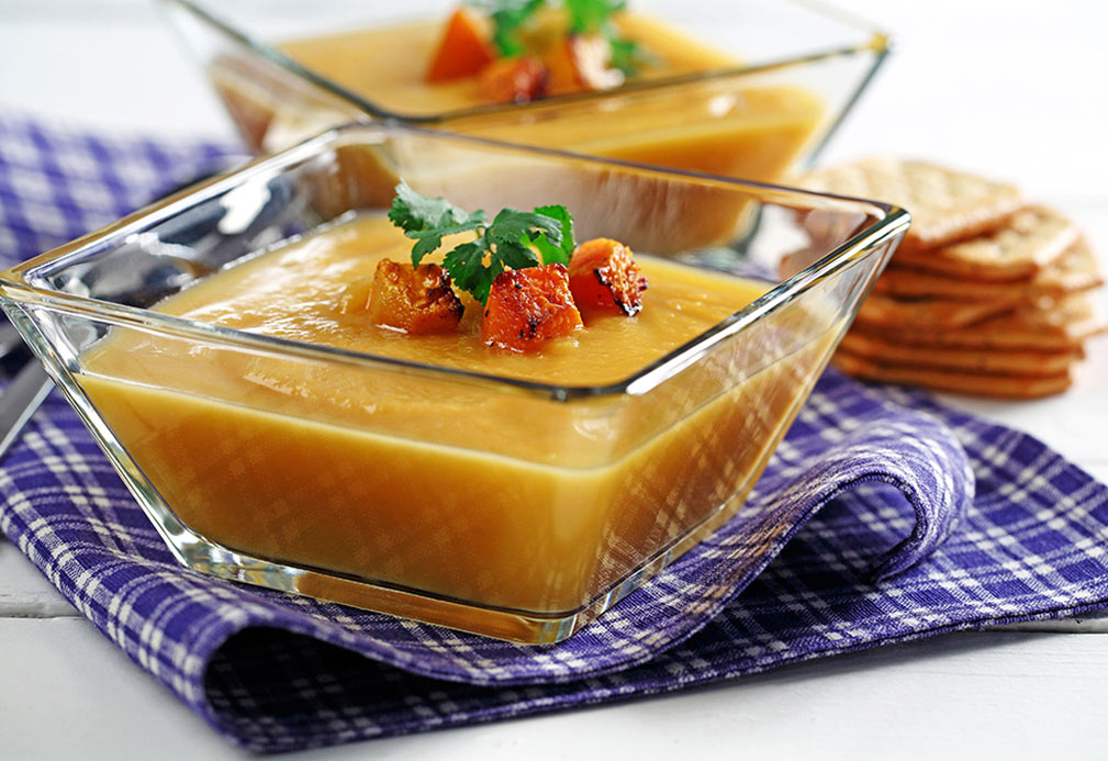 Butternut Squash Soup recipe made with canola oil by Chef Guadalupe Garcia-de-Leon