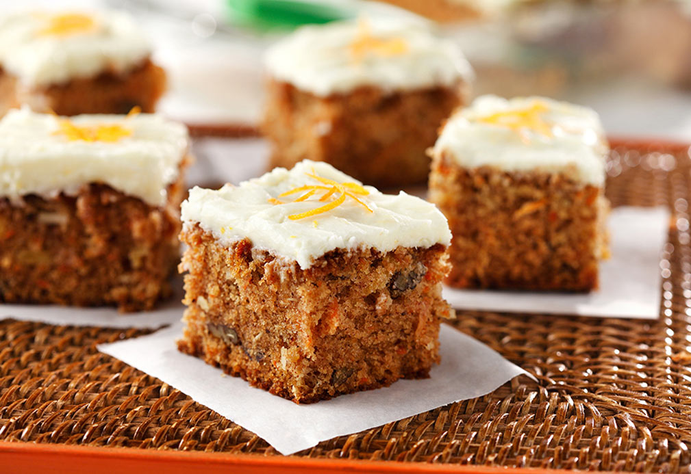 Carrot Cake recipe made with canola oil