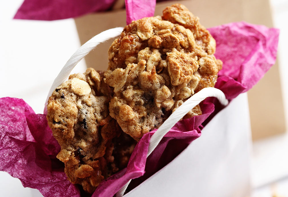 Chewy Cinnamon Oat Cookie recipe made with canola oil by Nancy Hughes