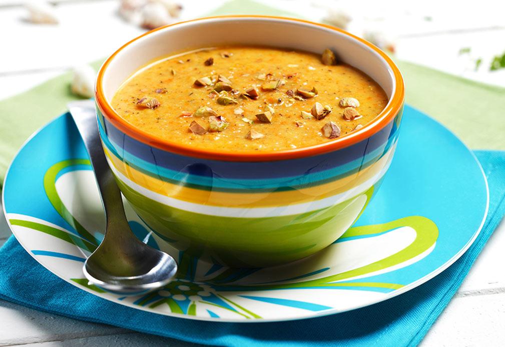 Sopa crema de zanahoria asada