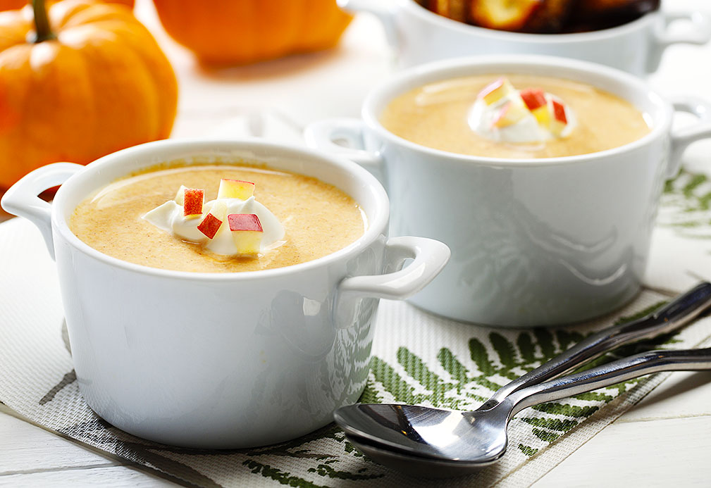 Creamy Pumpkin Apple Bisque recipe made with canola oil by American Diabetes Association