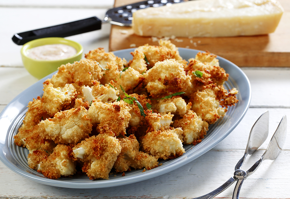 Crispy Roasted Cauliflower recipe made with canola oil by Patricia Chuey