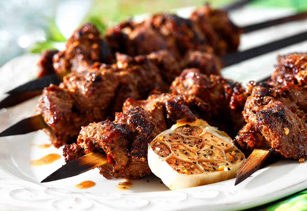 Cumin and Garlic Scented Lamb Skewers recipe made with canola oil by Nathan Fong