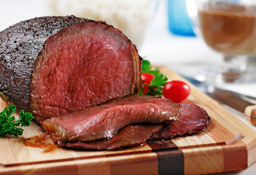 Eye of Round Roast with Rich, Dark Gravy recipe made with canola oil by Nancy Hughes