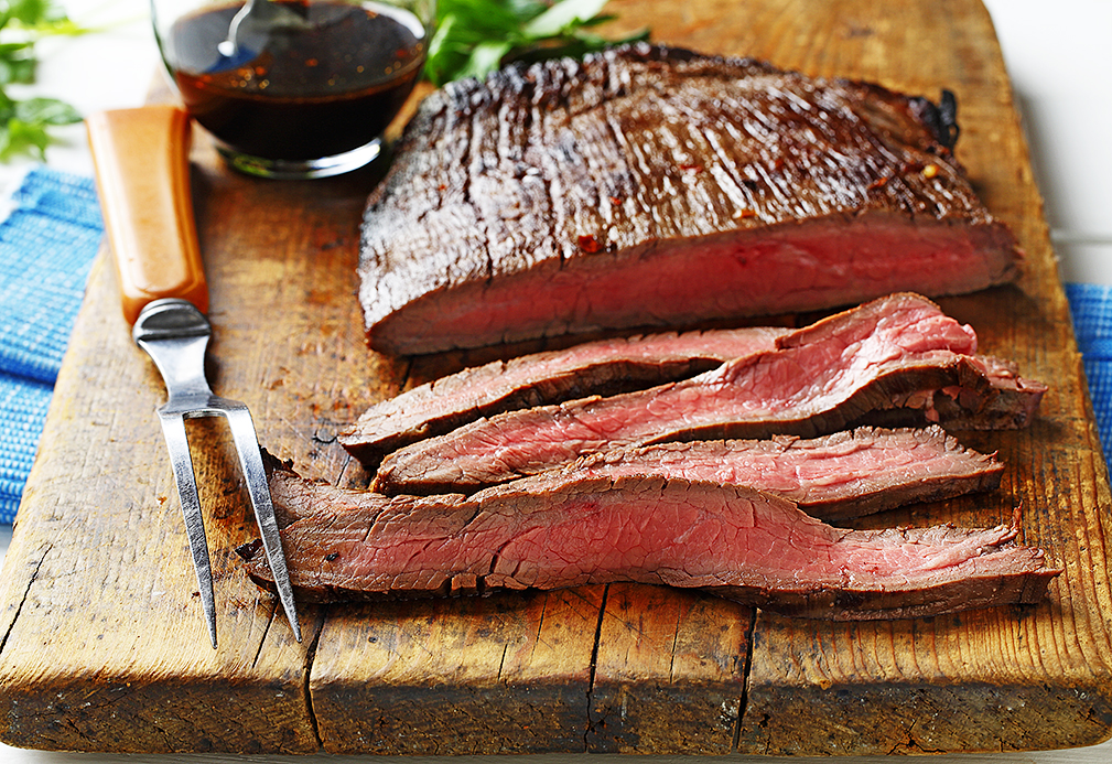 Flank Steak with Soy-Lime Reduction recipe made with canola oil by Nancy Hughes