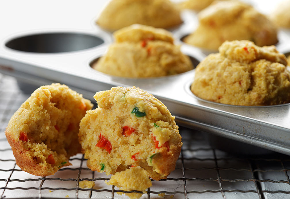 Jalapeno Corn Muffins recipe made with canola oil