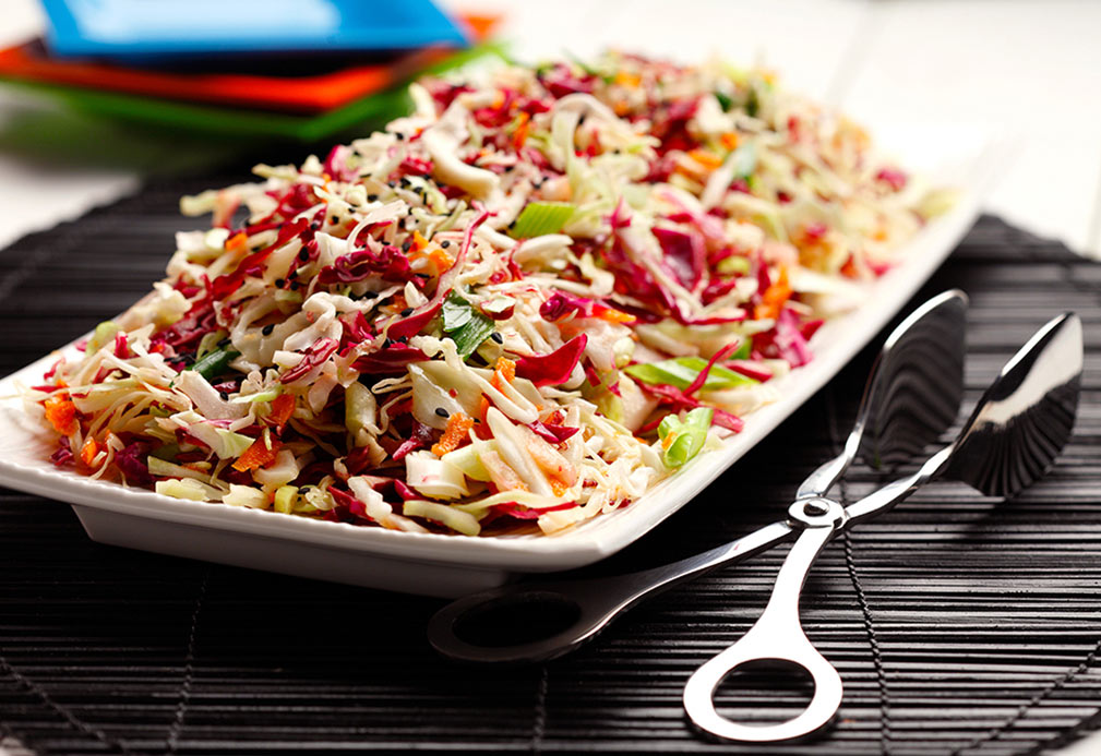 Japanese Sesame Slaw recipe made with canola oil by Patricia Chuey