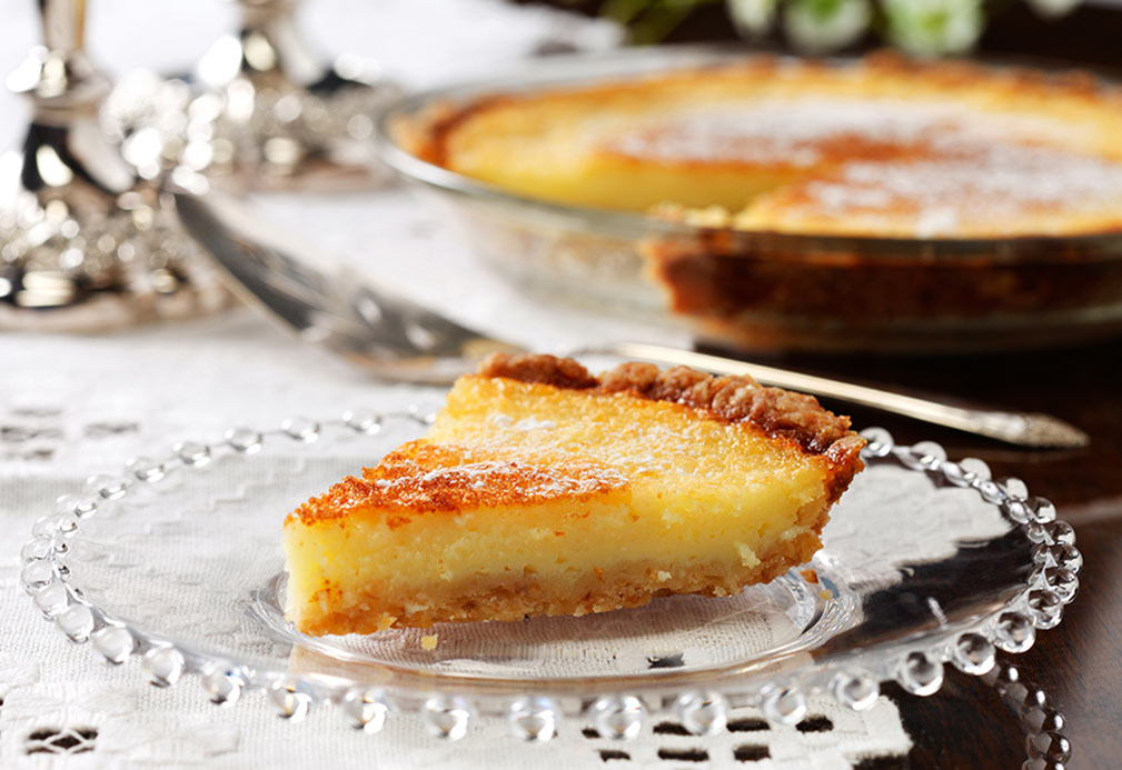 Lemon Chess Pie recipe made with canola oil by Ellie Krieger