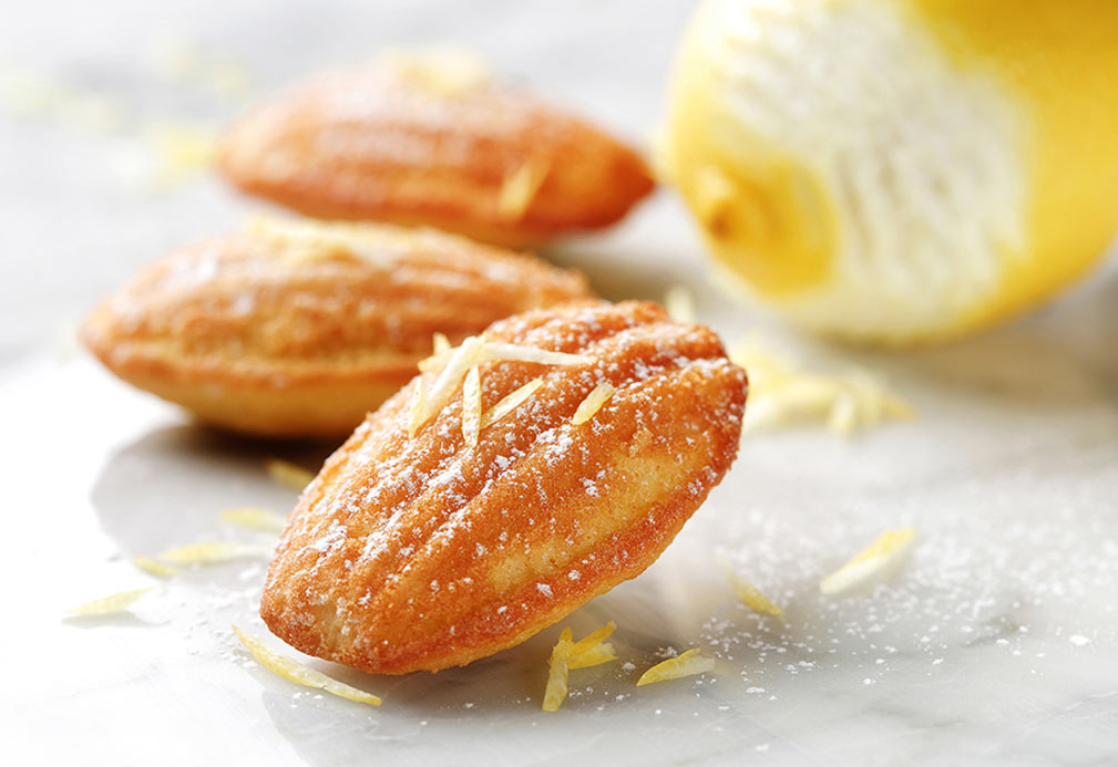 Lemon Grand Marnier Madeleines recipe made with canola oil by the Culinary Institute of America