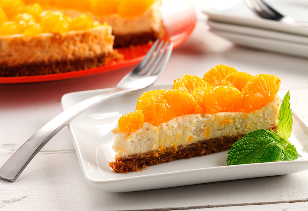Lemongrass Cheesecake with Mandarin Oranges recipe made with canola oil by Patricia Chuey