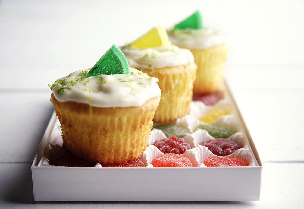 Cupcakes de lima limón