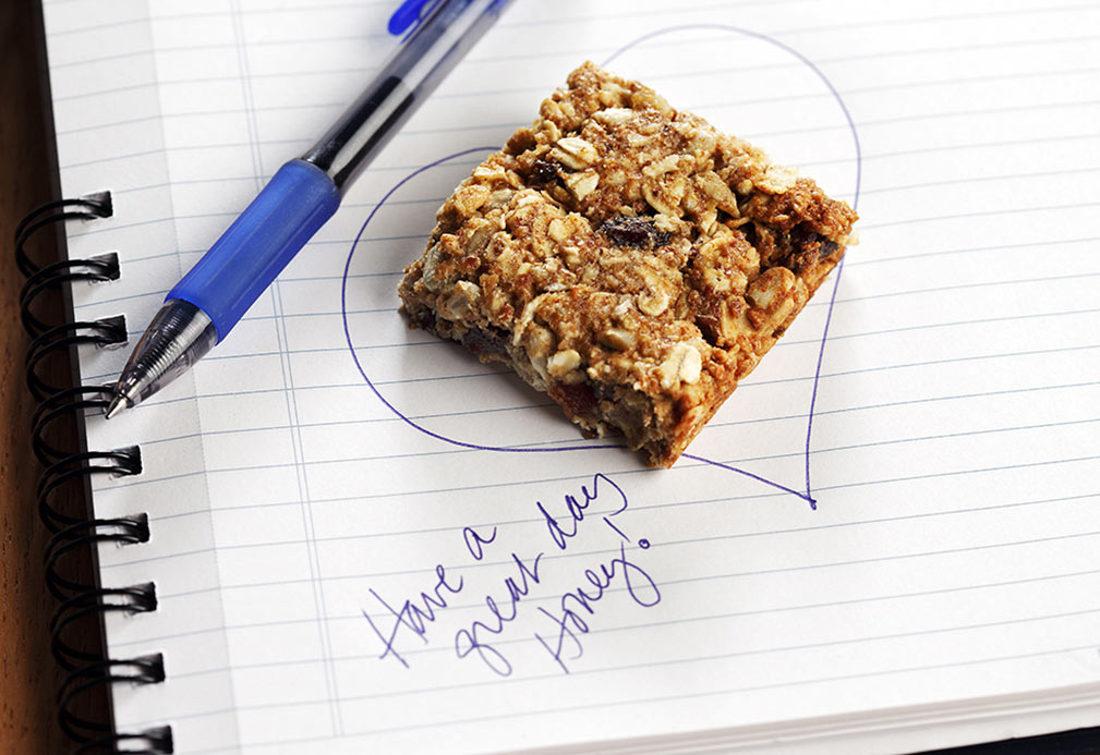 Lunchbox Granola Bars recipe made with canola oil