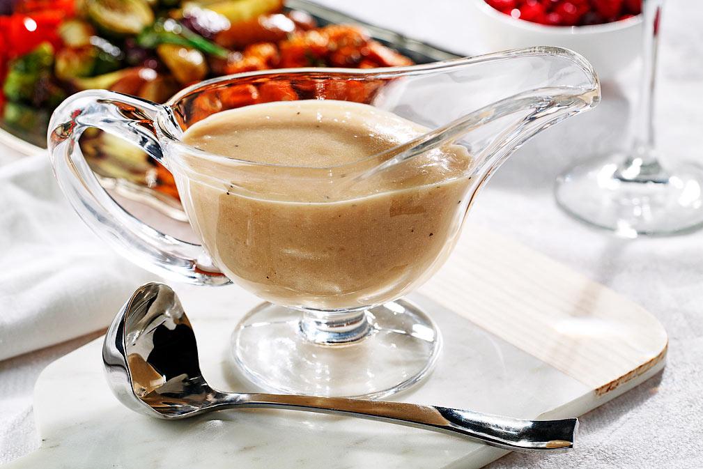 Salsa gravy de marsala y quinua