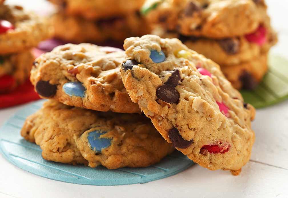 Monster Cookies recipe made with canola oil