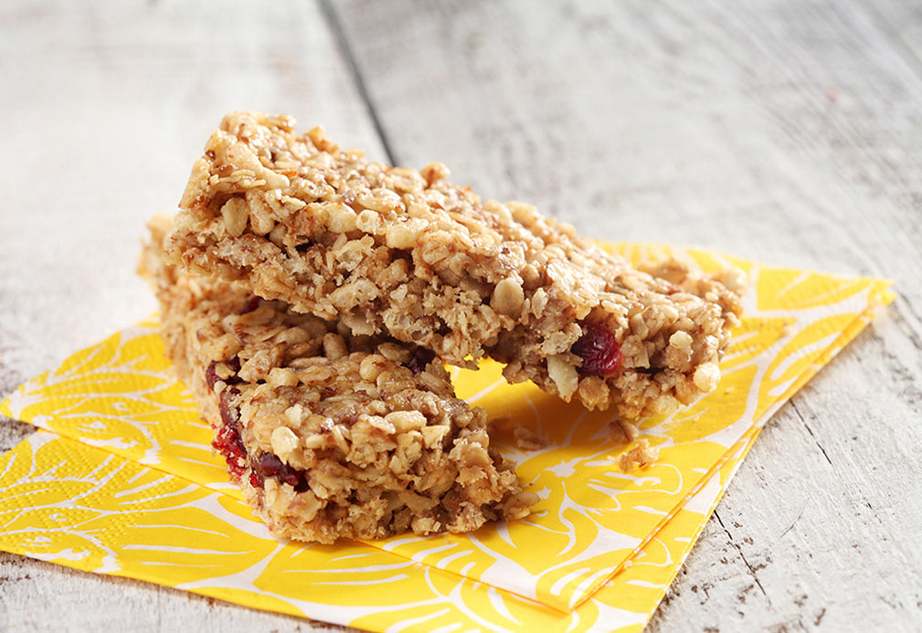 No Bake Peanut Butter Granola Bars recipe made with canola oil by Alison Lewis