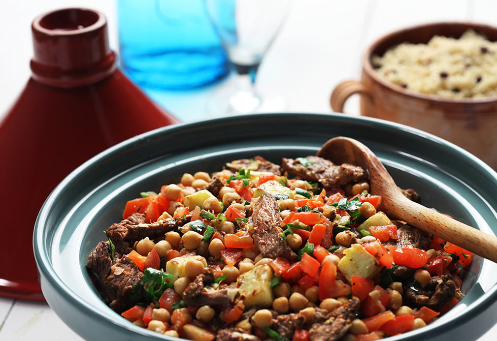 North African Lamb with Chickpeas and Couscous recipe made with canola oil