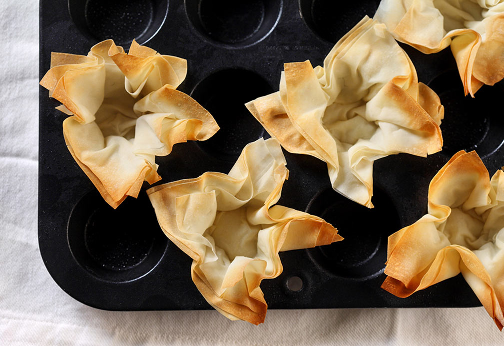Phyllo Pastry Cups recipe made with canola oil