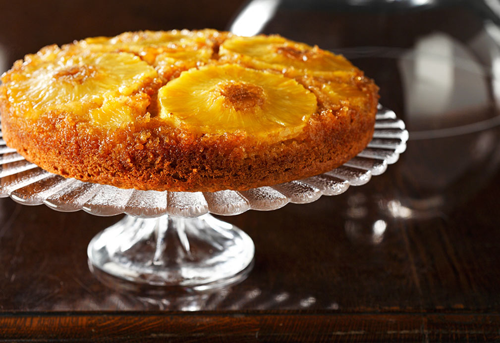 Pineapple Upside Down Cake recipe made with canola oil by Ellie Krieger