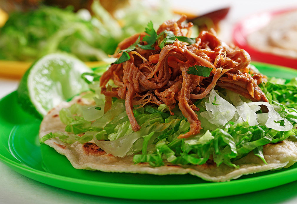 Pulled Pork with Smoked Paprika Lime Oil recipe made with canola oil by Nancy Hughes