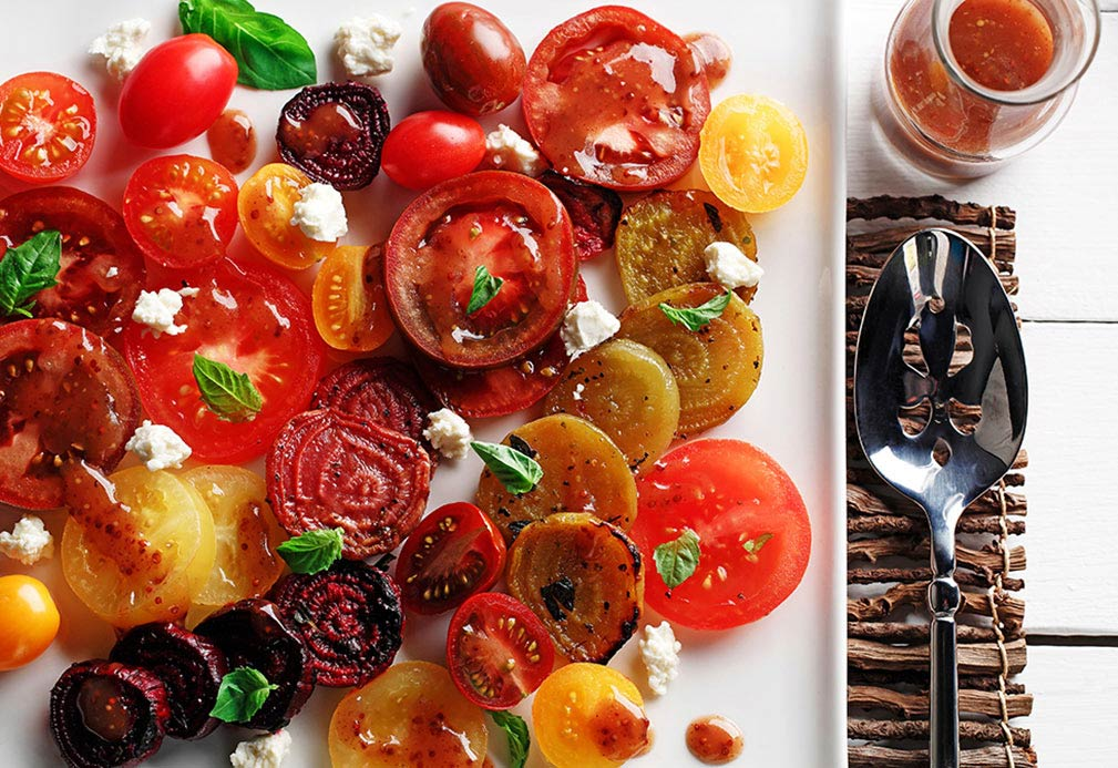 Roasted Beet and Tomato Salad recipe made with canola oil by George Geary