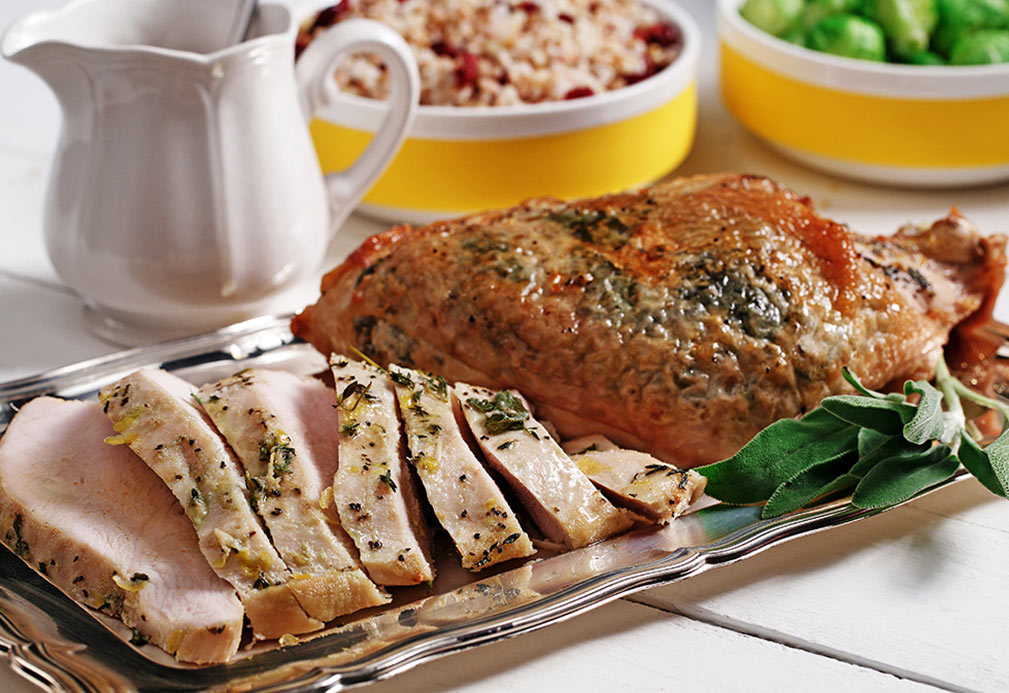 Sage Leaf Turkey Au Jus recipe made with canola oil by Nancy Hughes