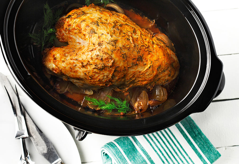 Slow and Easy Turkey Breast with Dill recipe made with canola oil by Nancy Hughes