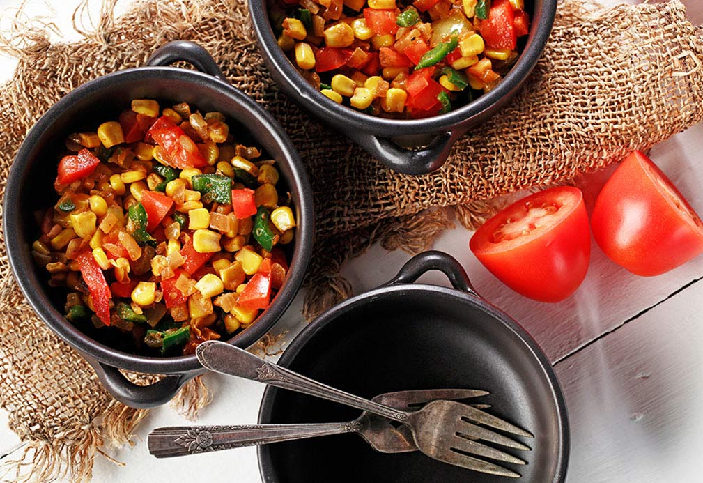 Spicy Corn with Poblano Peppers recipe made with canola oil in partnership with the American Diabetes Association