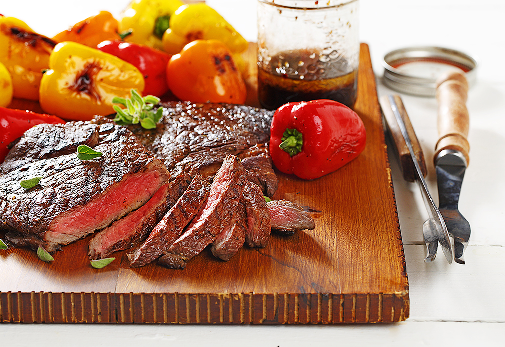 Spiked Beef Sirloin and Petite Peppers