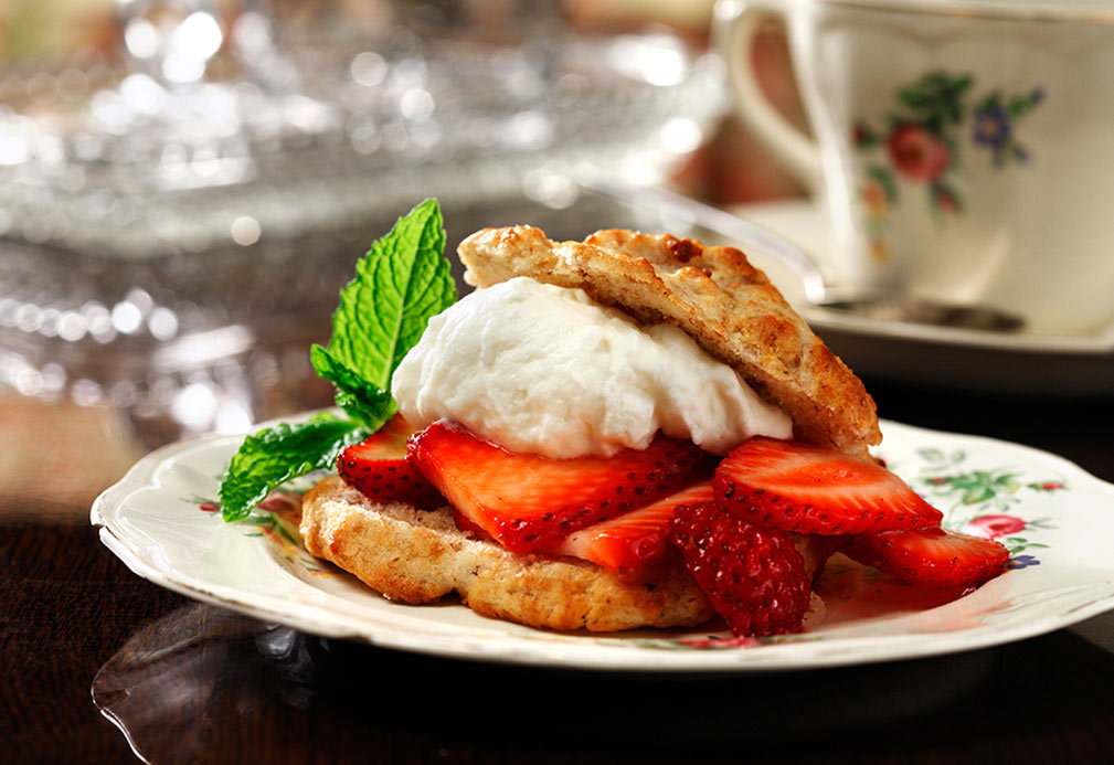 Strawberry Shortcake recipe made with canola oil by Ellie Krieger