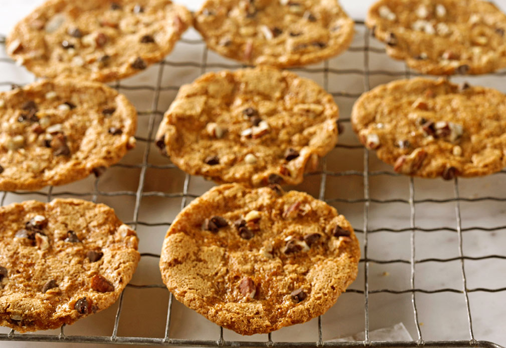 Toffee Pecan Topped Cookies recipe made with canola oil in partnership with the American Diabetes Association
