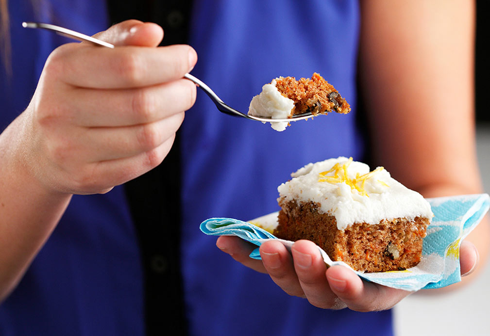 Tropical Carrot Cake recipe made with canola oil