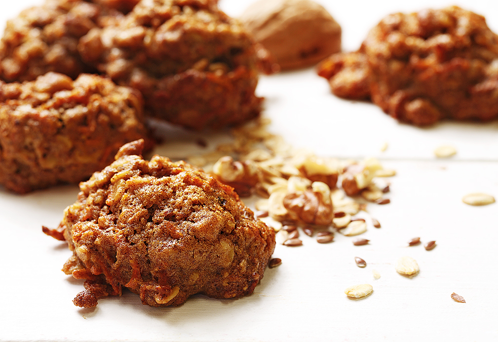 Walnut and Flax Carrot Cookies recipe made with canola oil by Patricia Chuey