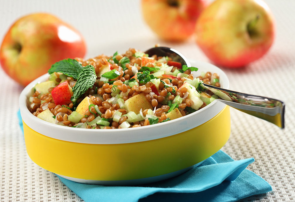 Wheat Berry and Apple Salad recipe made with canola oil